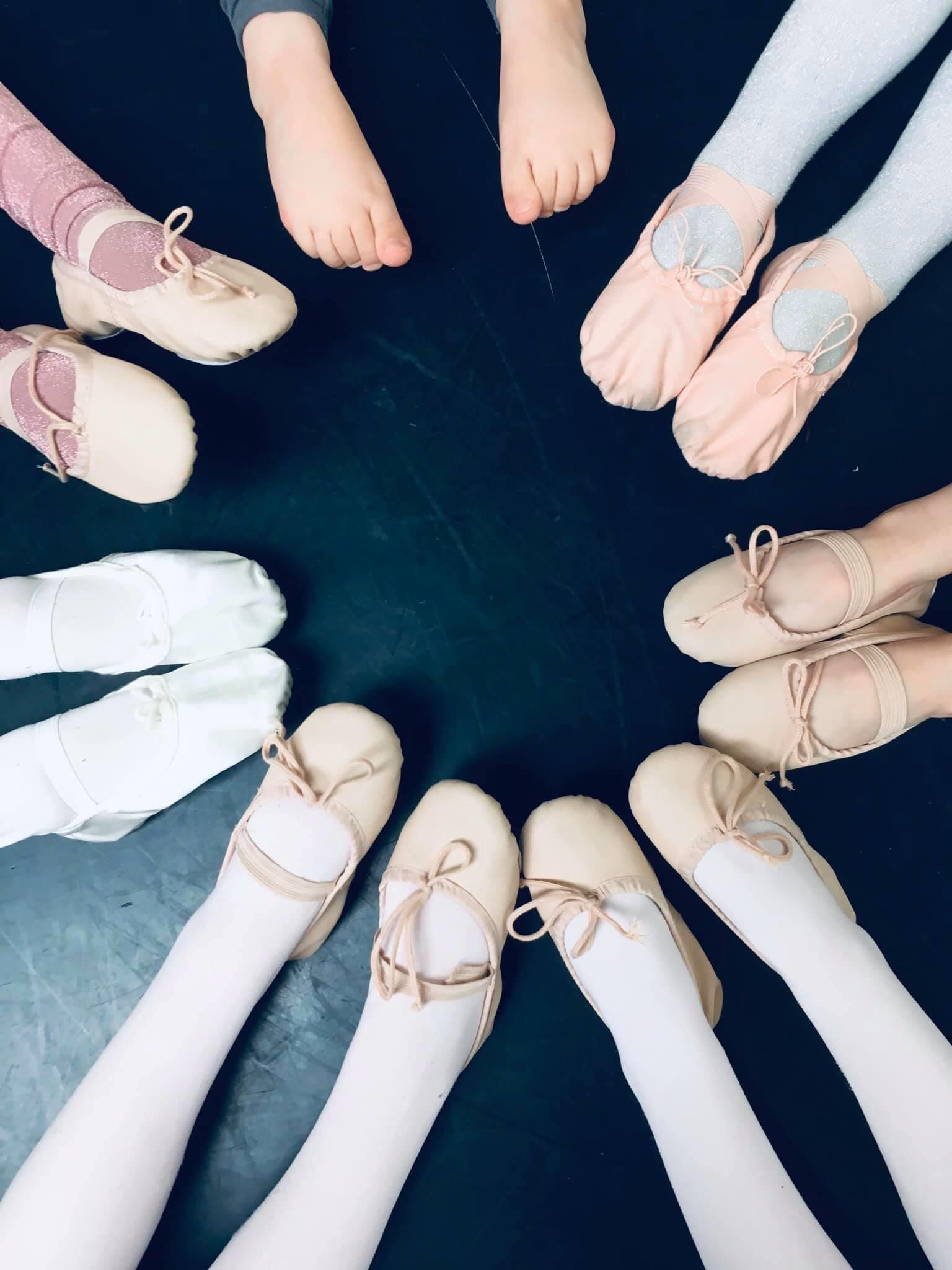 ballet shoes in a circle