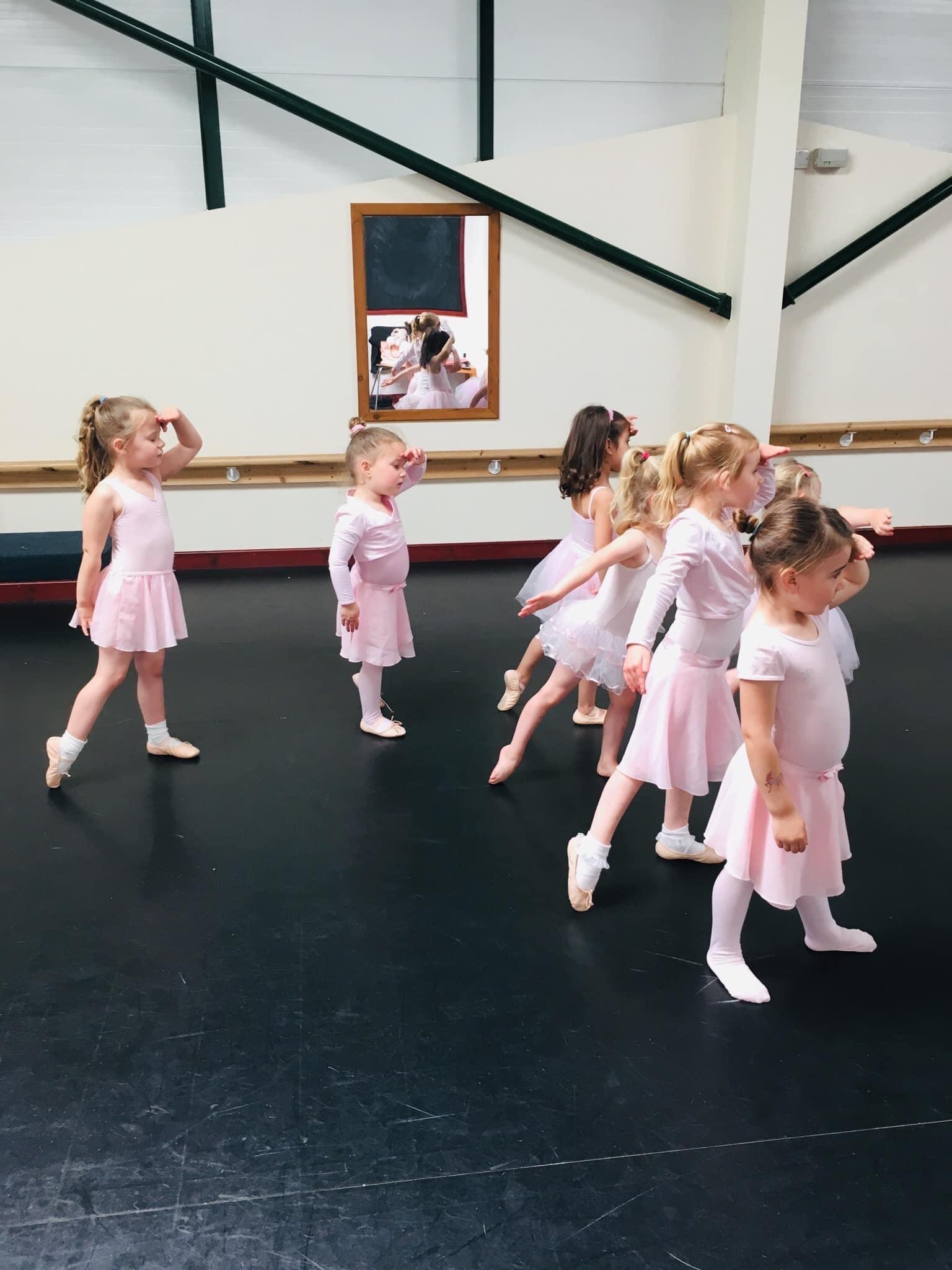 ballet class looking